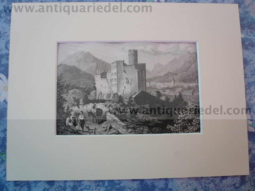 Trentino, anno 1850, steelengraving