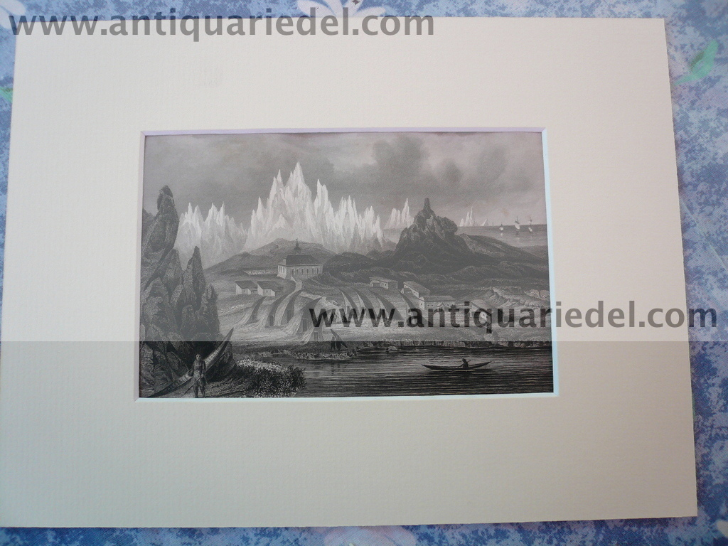 Greenland, anno 1850, steelengraving,