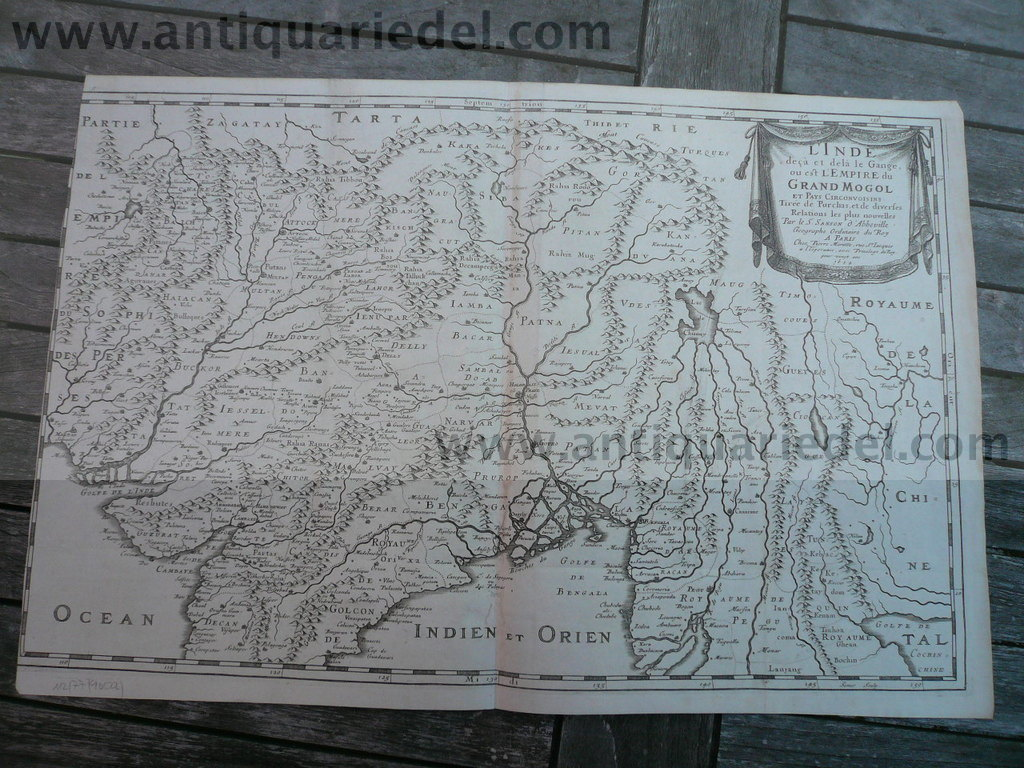 L`Inde/Empird du Grand Mogol, map, Sanson, anno 1654