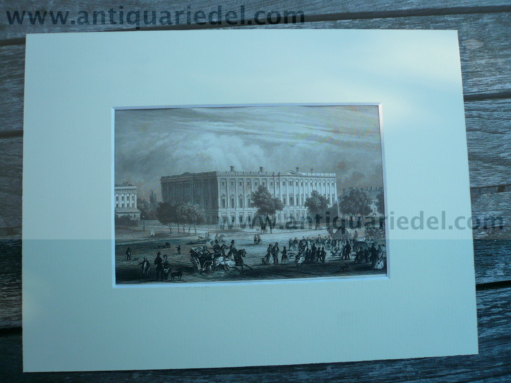 Washington, anno 1851, General-Post-Office, steelengraving