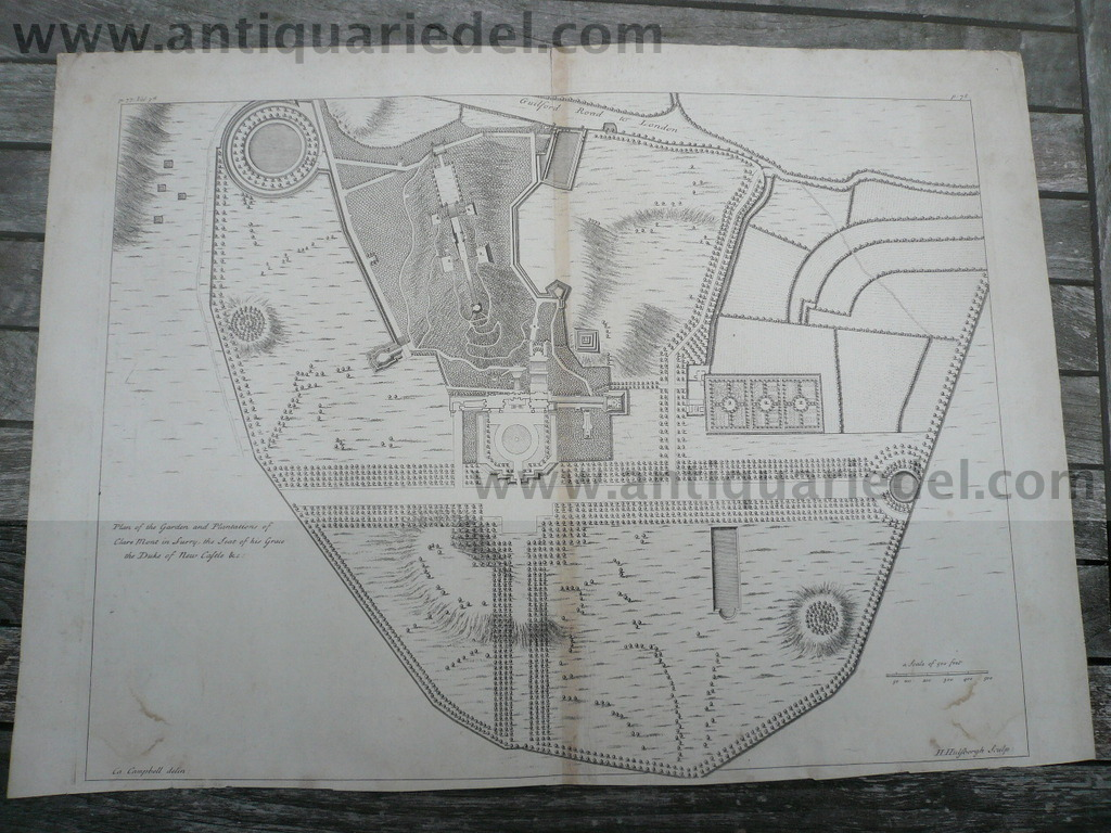 Gardens of Clare Mont in Surry, Plan 1731