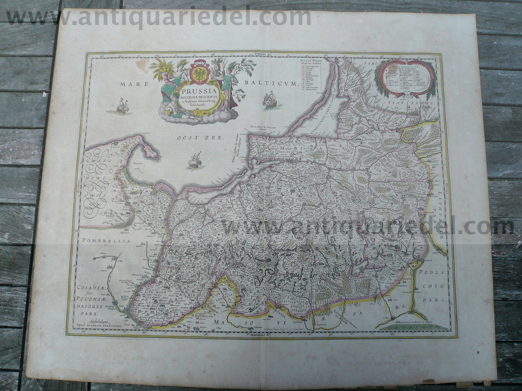 Prussia, anno 1640, map, Janssonius Jan