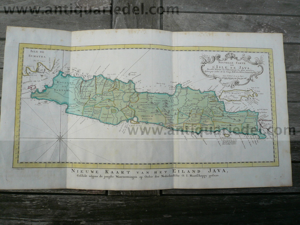 Isle de Java, map, anno 1750, Bellin