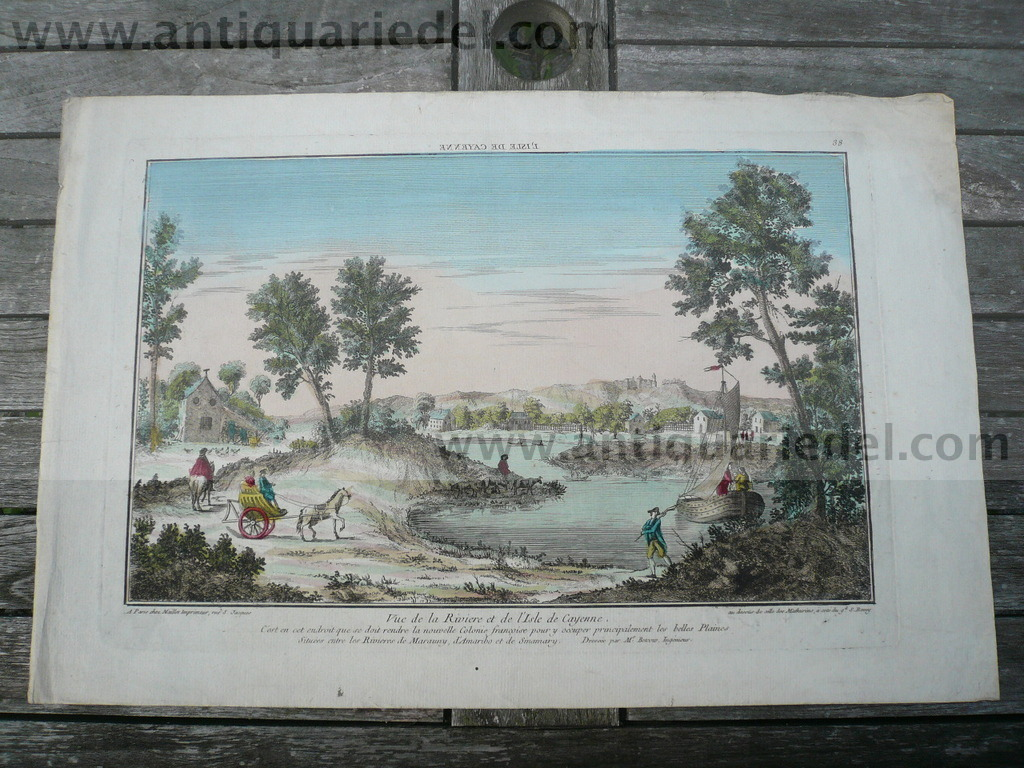 Isle de Cayenne, French Guiana, optical print, anno 1775