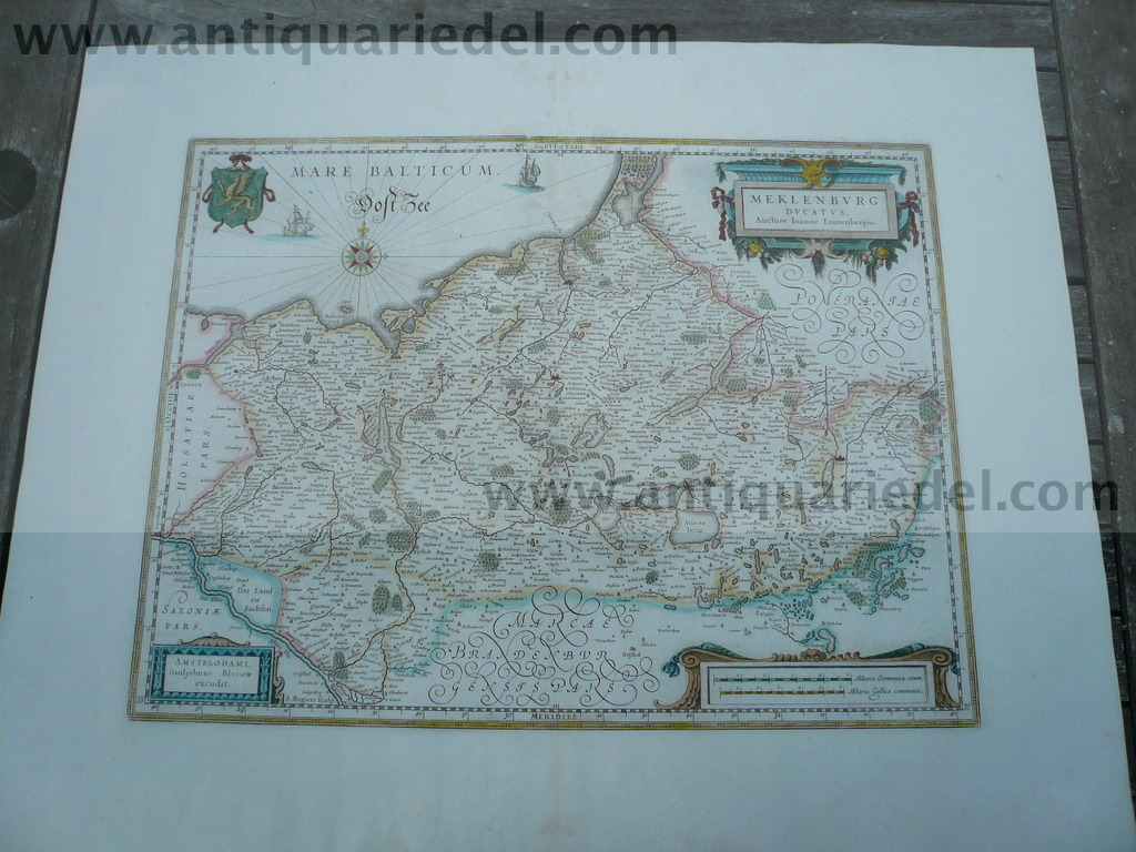 Mecklenburg, anno 1662, Blaeu J., Atlas Major