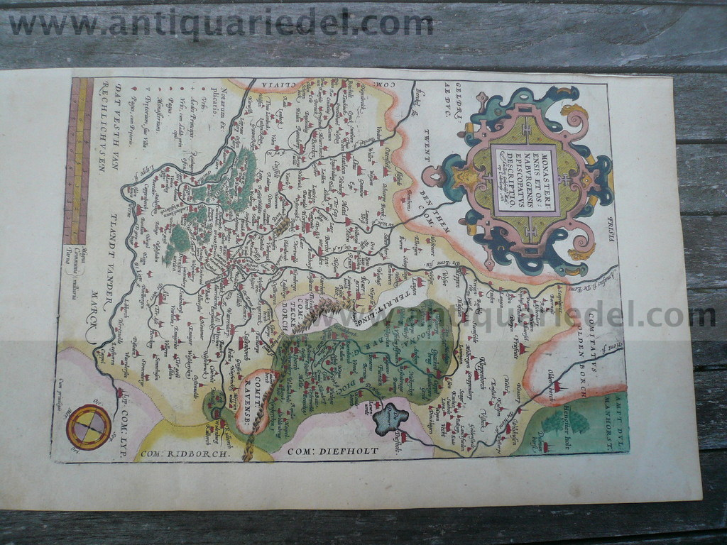 Monasteriensis/Osnabrugensis, anno 1590, Ortelius A., altkolorie