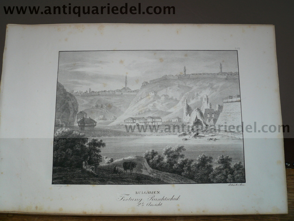 Russe-Rousse/Ruschtschuk fortress, anno 1825, litho, Kunike