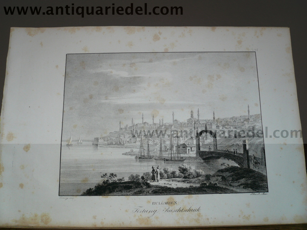 Russe-Rousse/Ruschtschuck, fortress, anno 1825, Kunike, lithogra