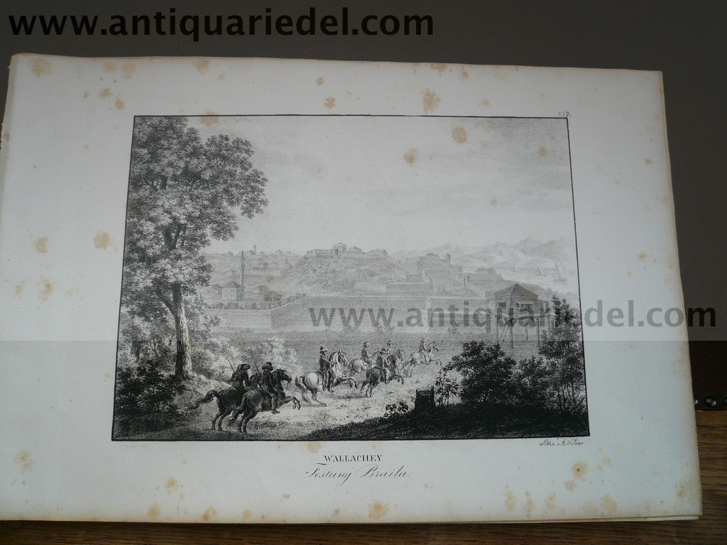 Braila/Brahilow-fortress, anno 1825, lithograph, Kunike