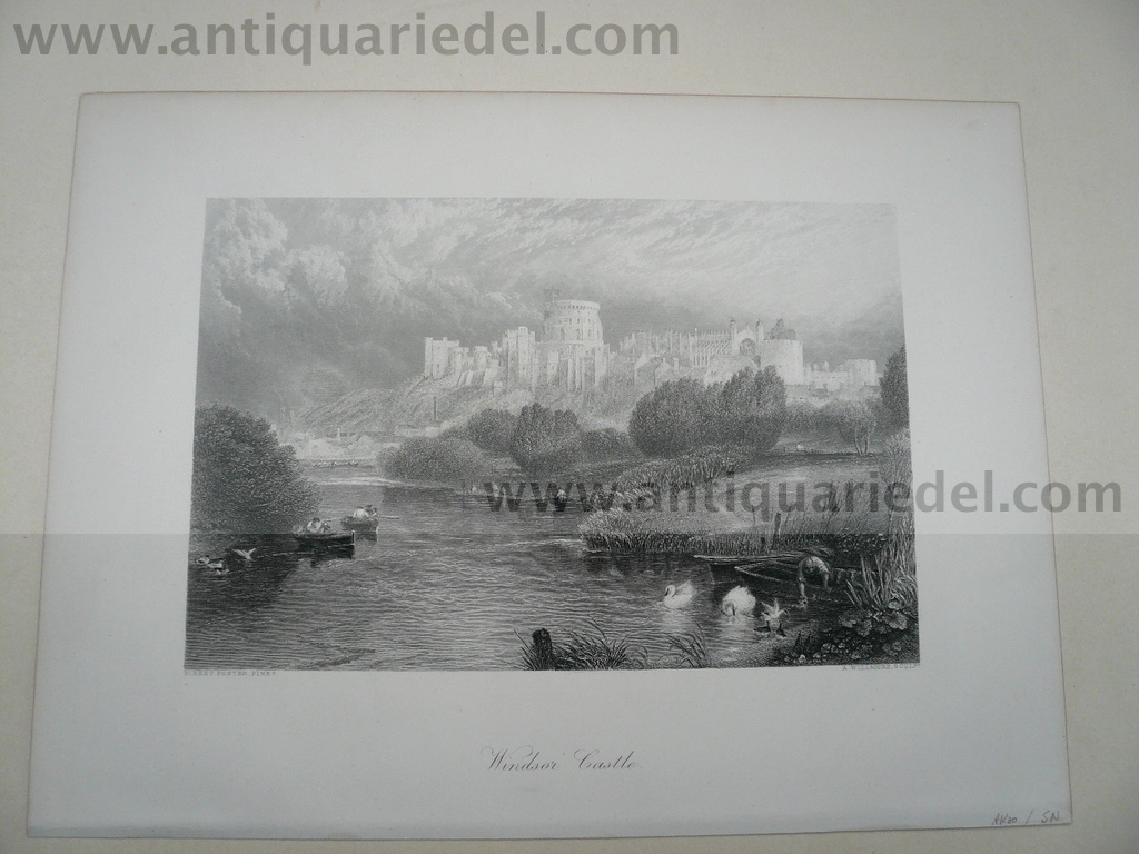 Windsor Castle, anno 1850, steelengraving
