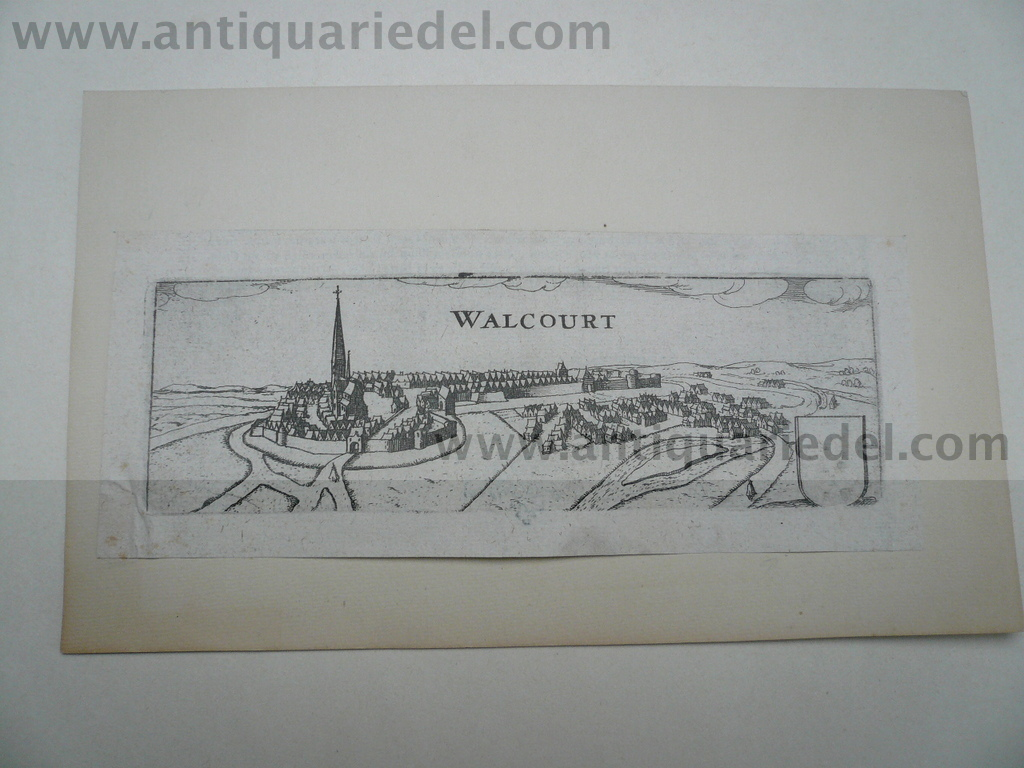Walcourt, anno 1600, copperengraving