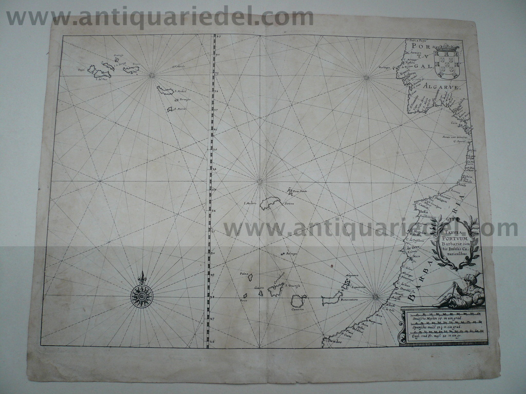 Canary Islands/Azores, anno 1640, Merian M., copperengraving