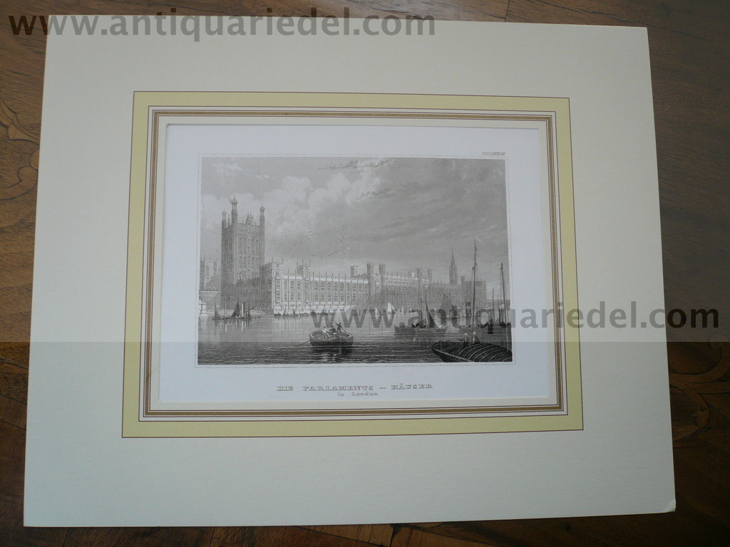 London, Parlament, anno 1850, Steelengraving