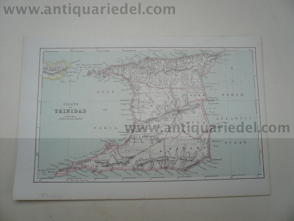 Trinidad, map, anno 1900