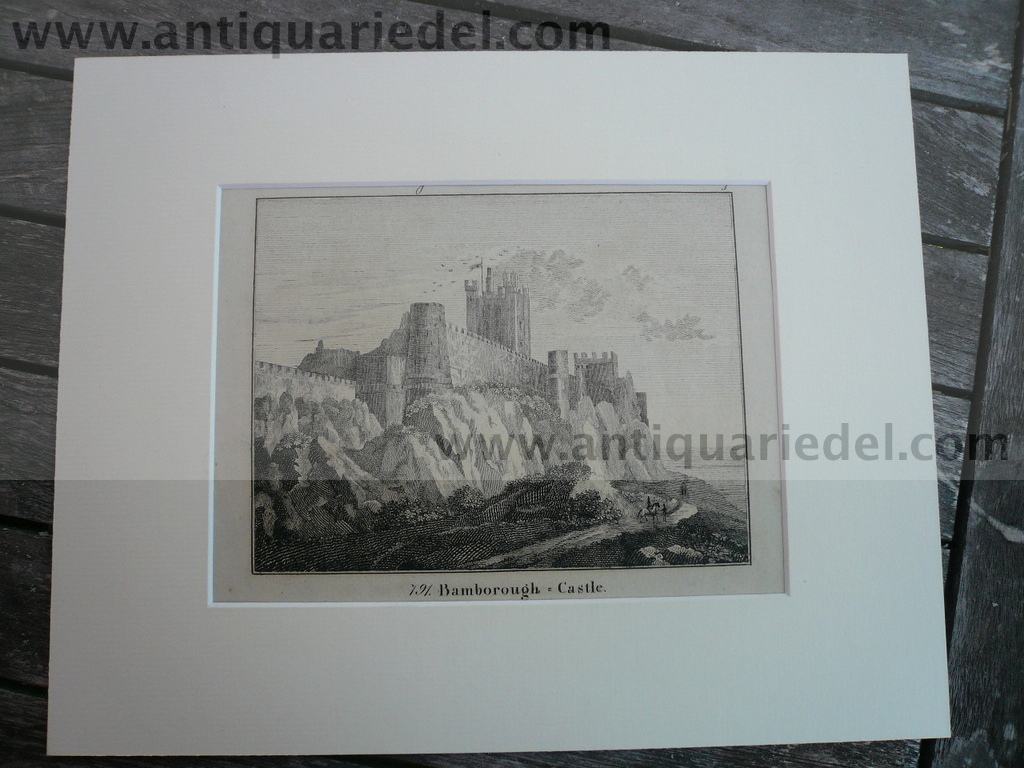 Bamburgh/Bamborough Castle, lithograph anno 1830