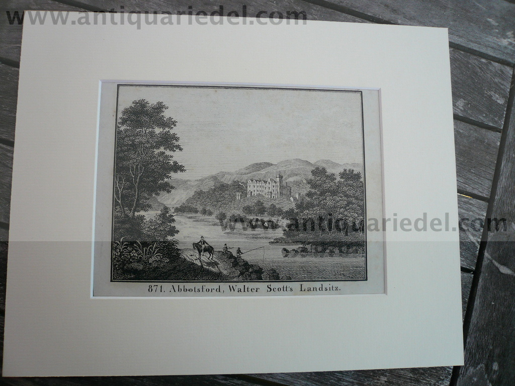 Abbotsford House, lithograph anno 1830