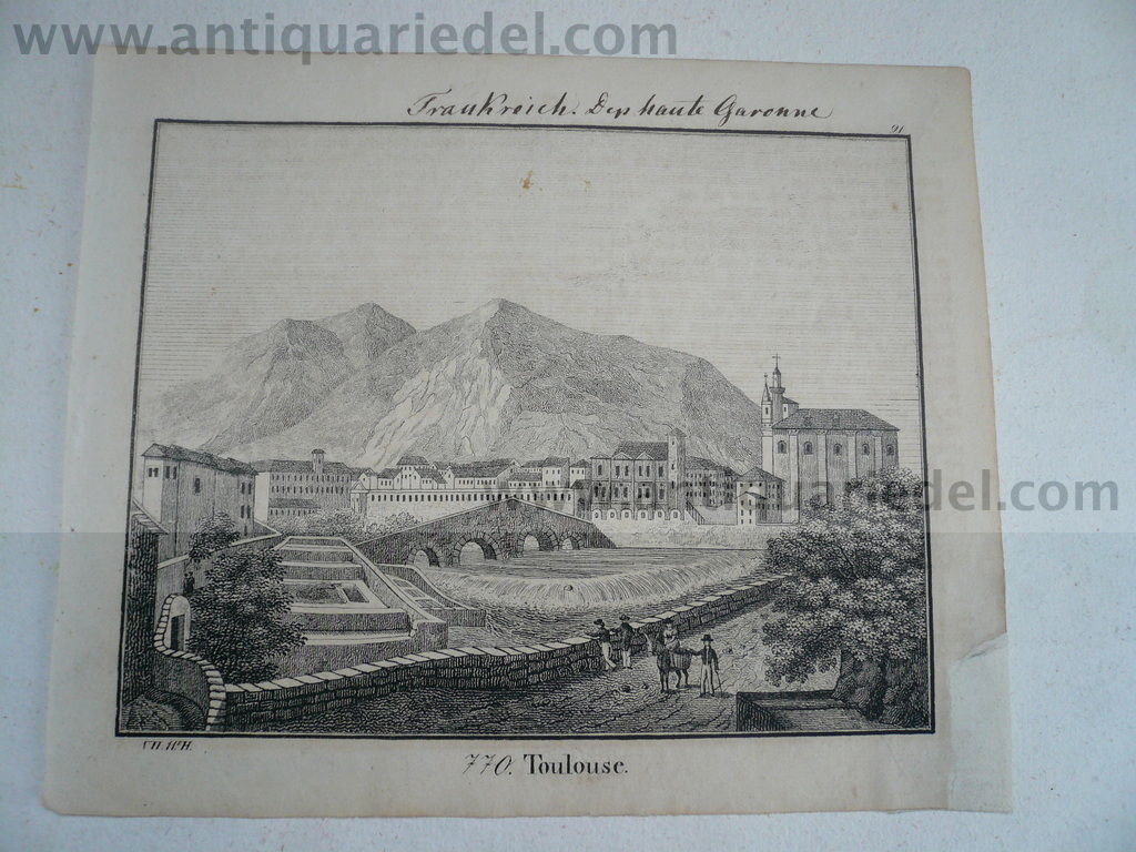 Toulouse, anno 1830, lithograph, Hellfarth C.
