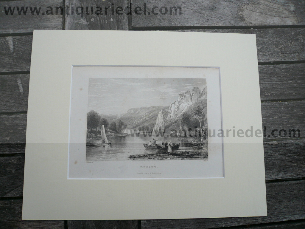 Dinant, anno 1840, steelengraving