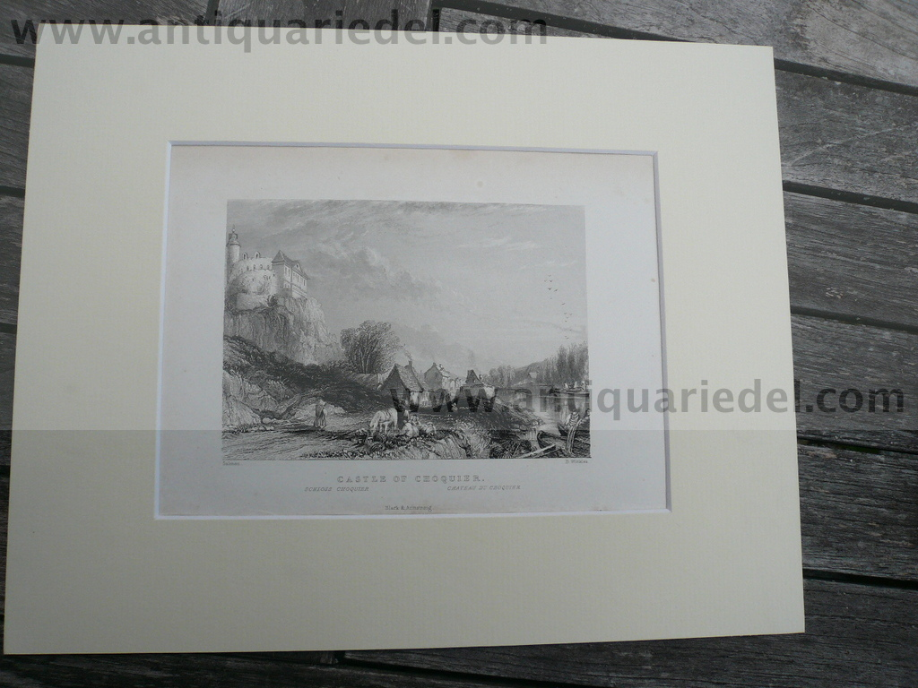 Choquier, anno 1840, steelengraving