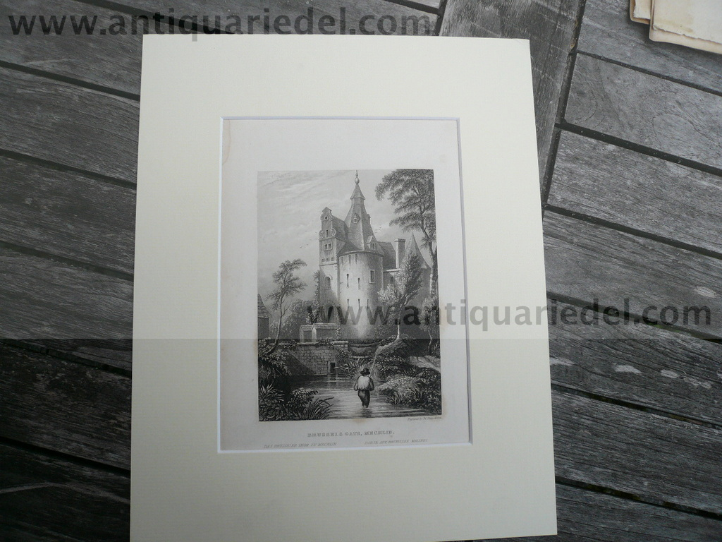 Brussels, anno 1840, steelengraving