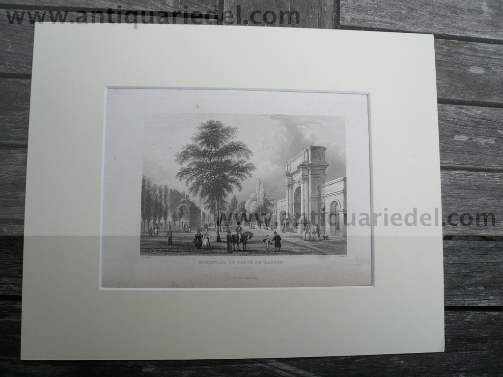 Brussels-Laken, anno 1840, steelengraving