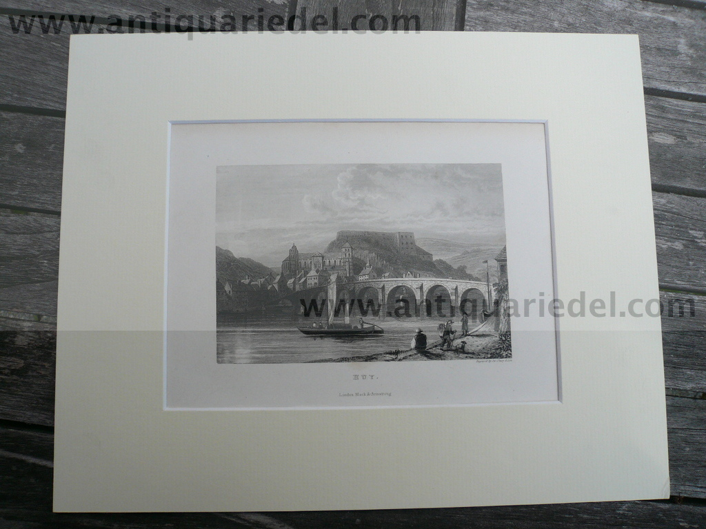 Huy, anno 1840, steelengraving