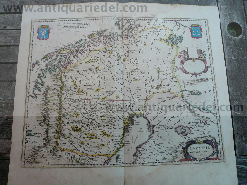 Lapponia, anno 1662, Blaeu, Atlas Major