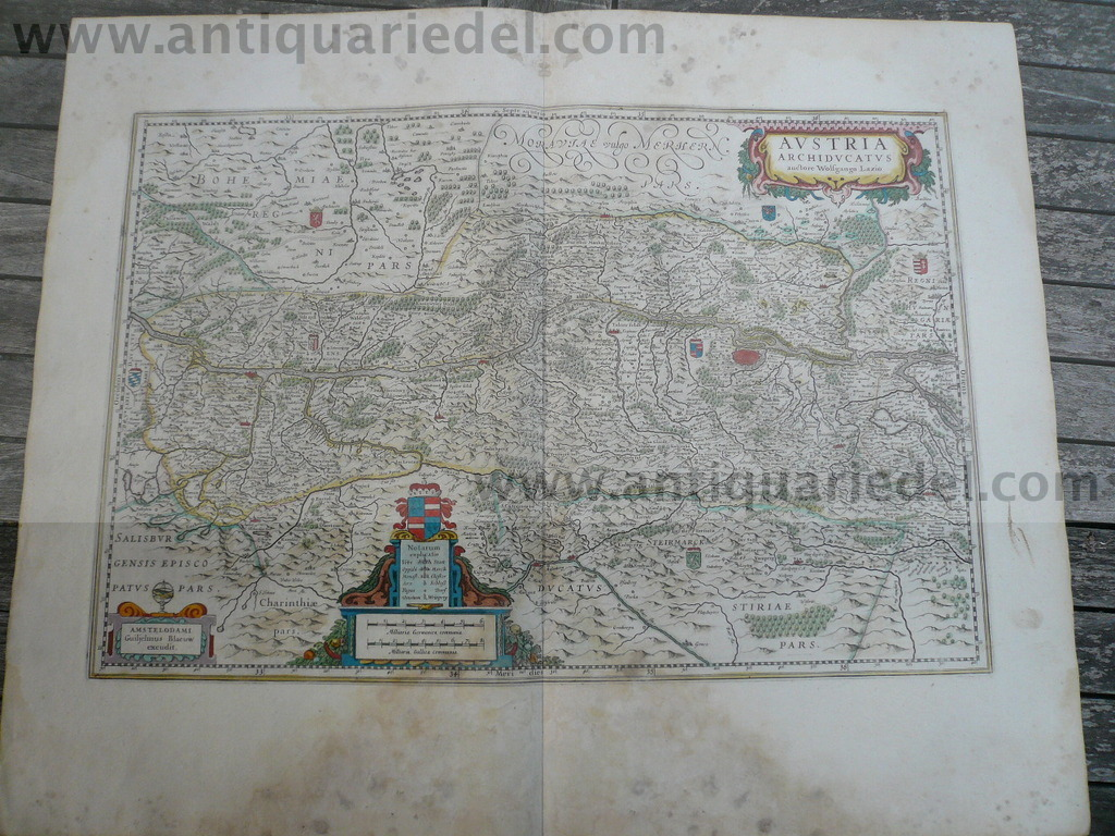 Austria, anno 1662, Landkarte, Blaeu, Atlas Major