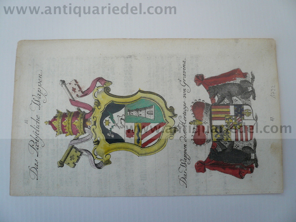 Duke of Gravina/Pope/coat of arms, anno 1732, Weigel