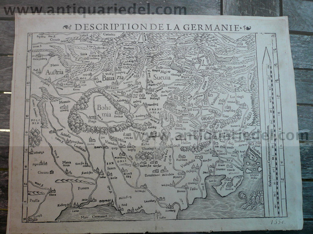 Description de la Germaniae, anno 1550, Sebastian Münster, woodc