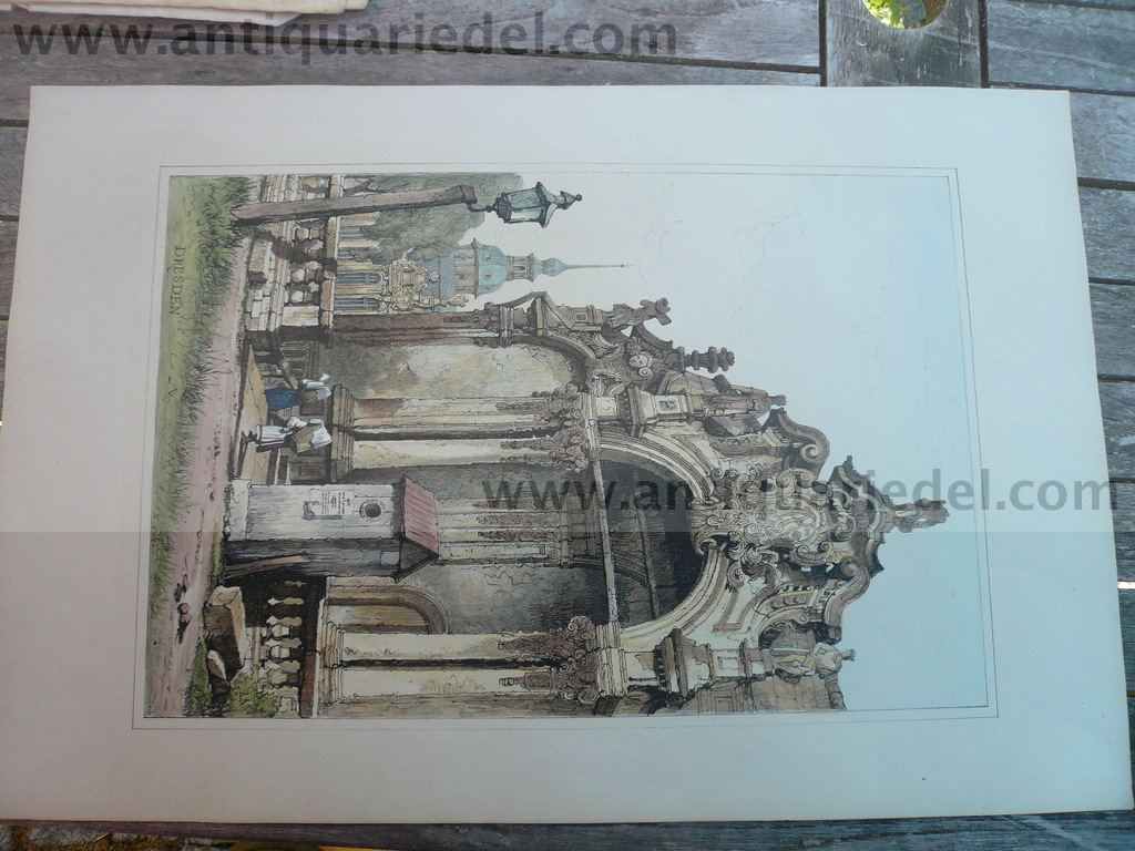 Dresden, Zwinger, anno 1830, litho, Prout S.