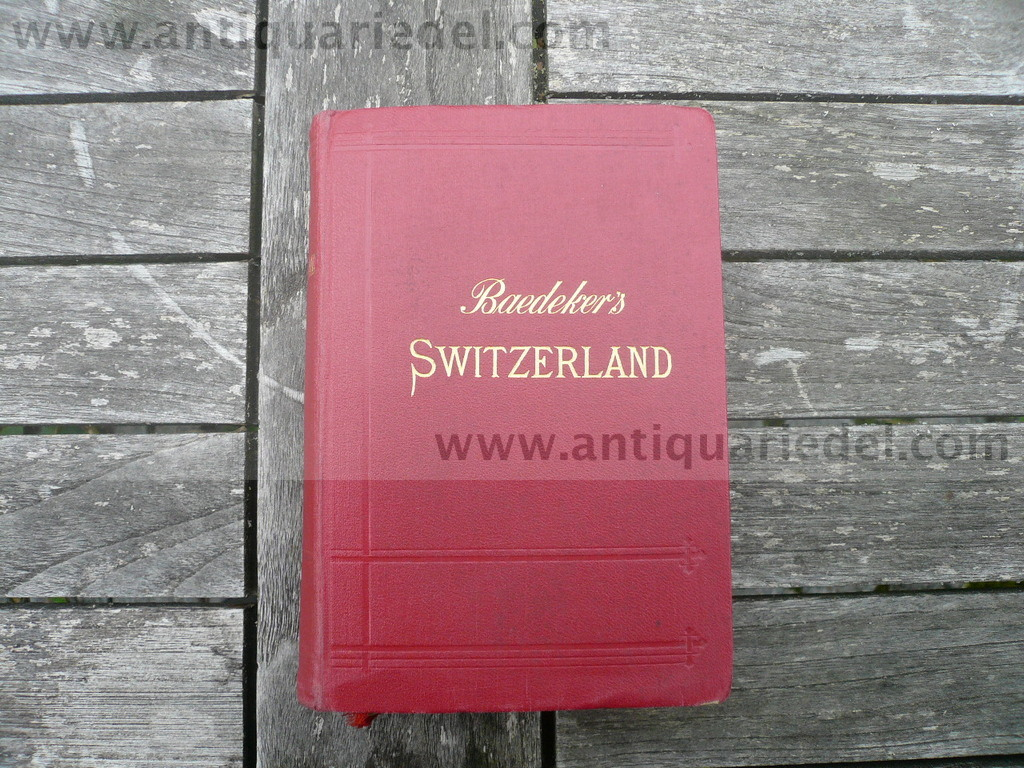 Switzerland/Italy/Savoy and Tyrol, K.Baedeker, 1913, 25 edition