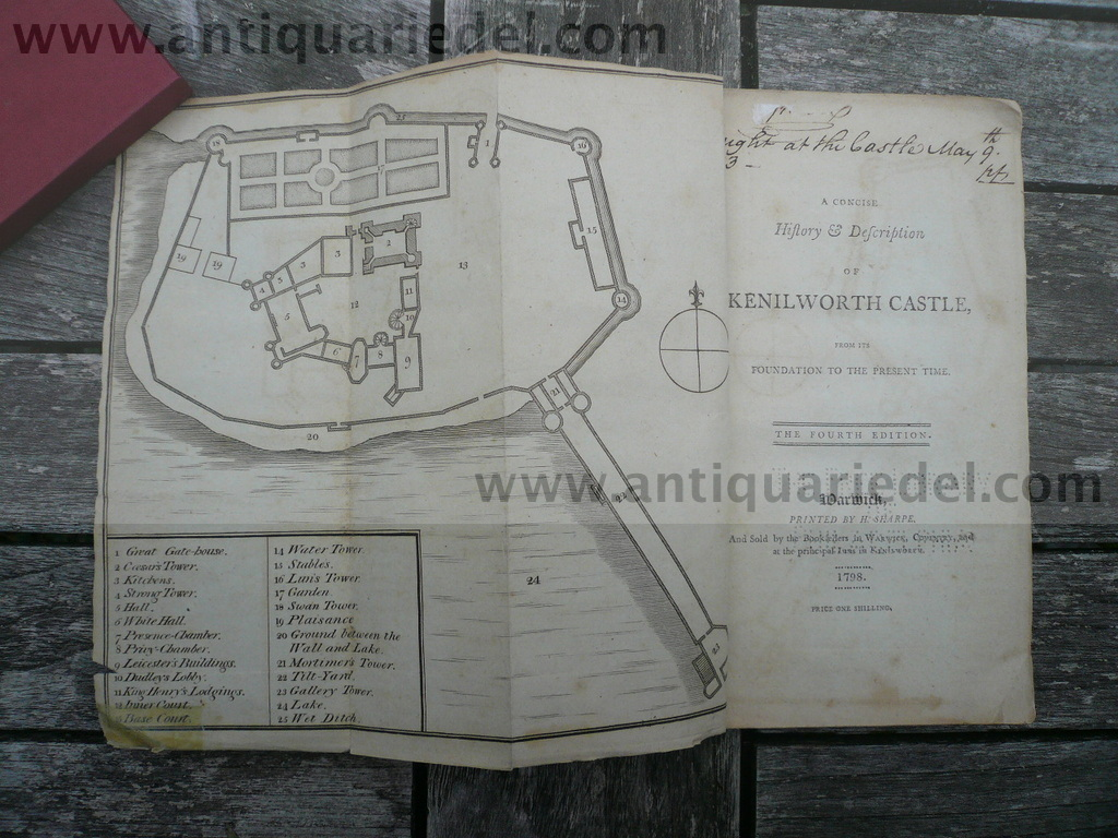 Kenilworth Castle, Guide from anno 1798, with a Plan
