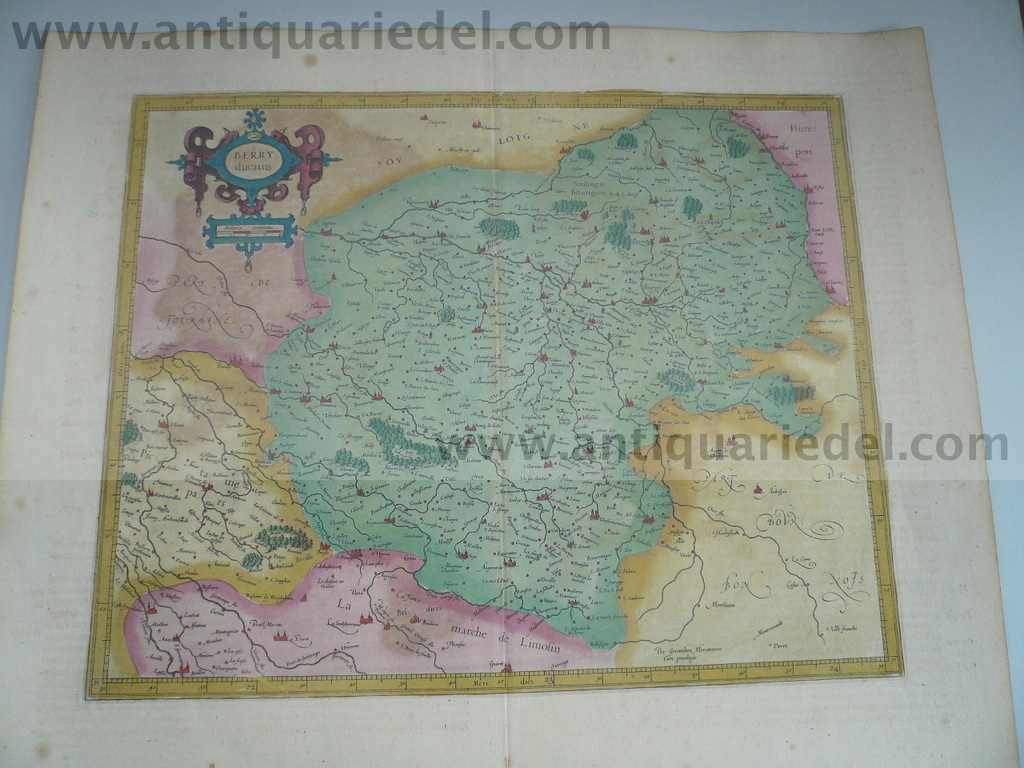 Berry Ducatus, anno 1606, Mercator G., old colours