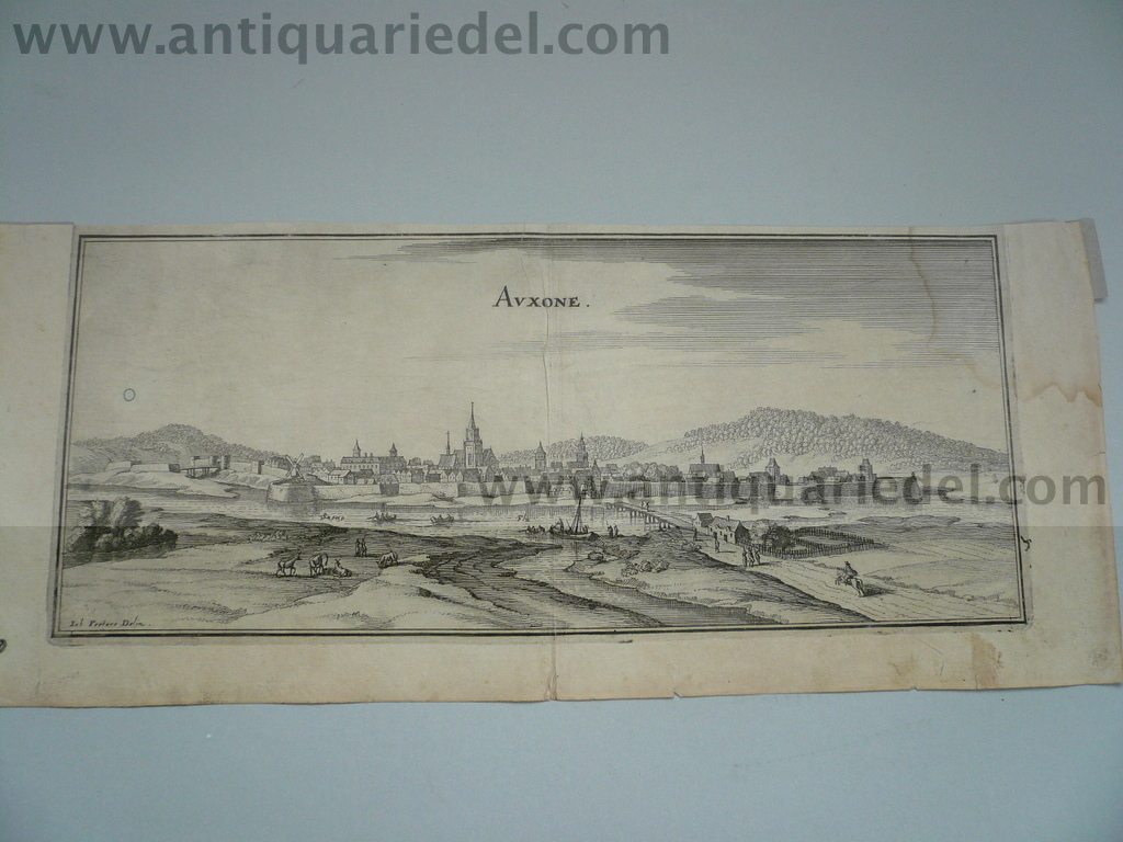 Auxone, anno 1660, Merian M., copperengraving