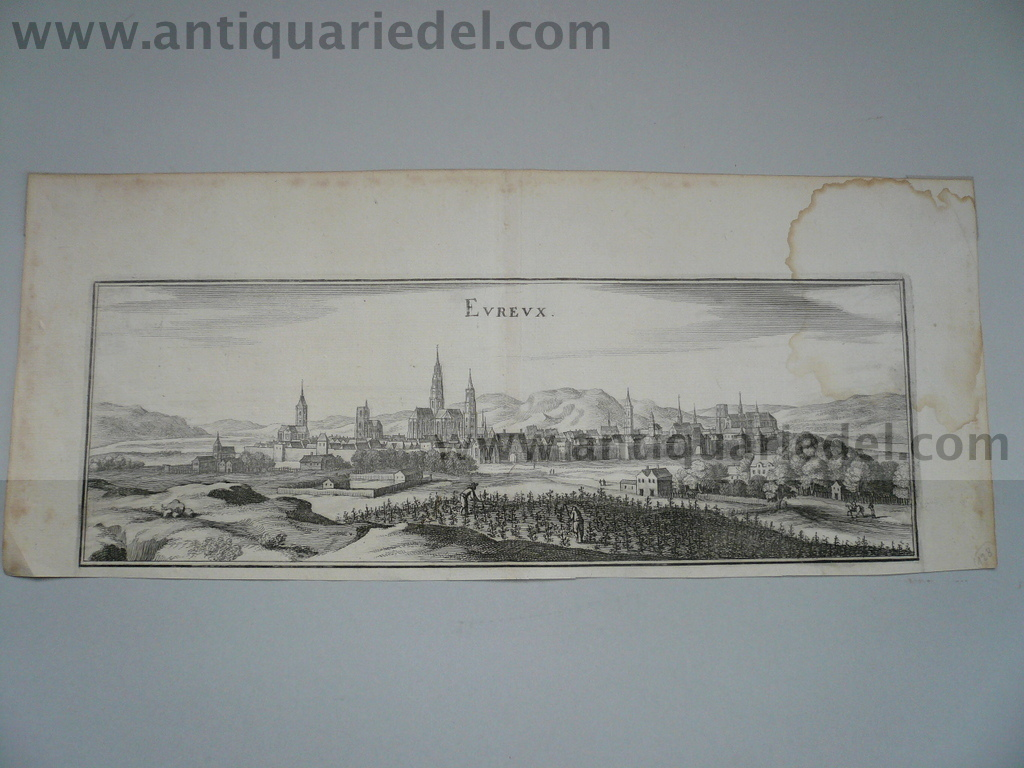 Evreux, anno 1660, Merian M., copperengraving