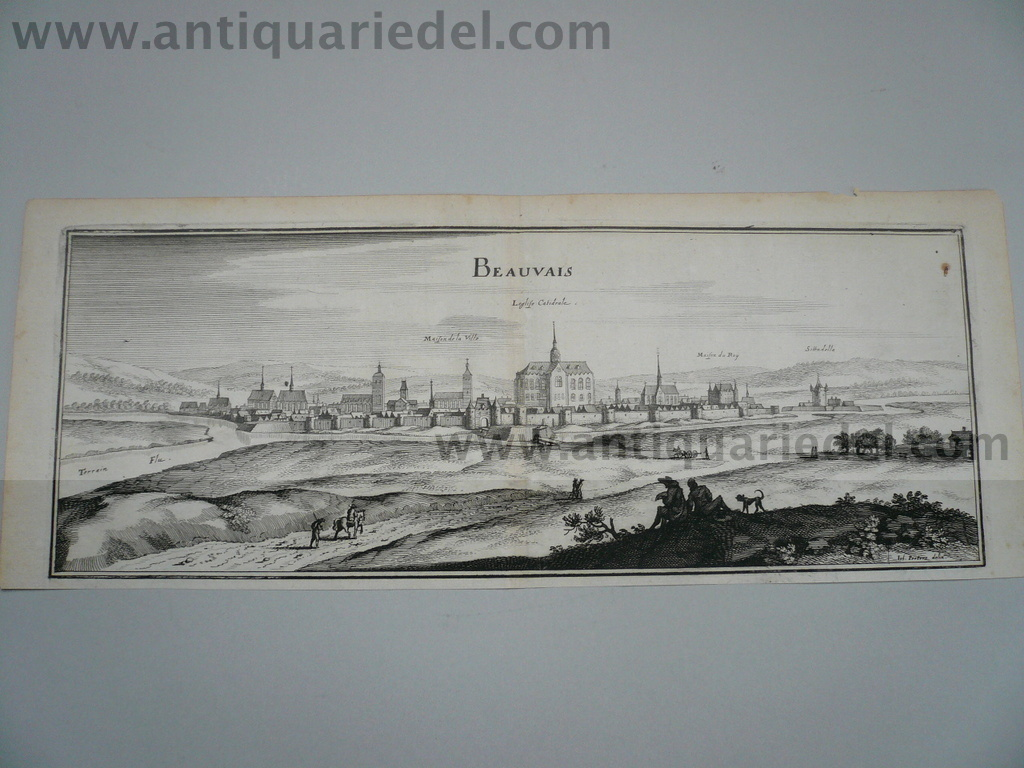 Beauvais, anno 1660, Merian M., copperengraving