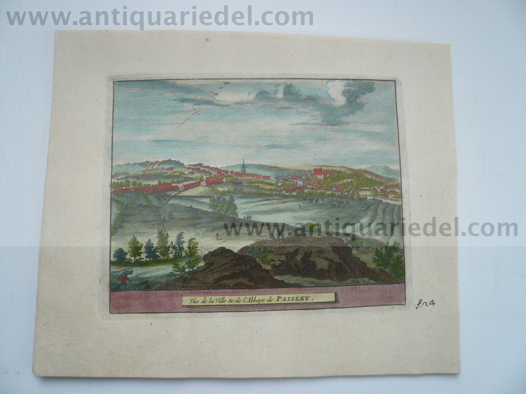 Paisley-Scotland, anno 1707, P.v.d.Aa, copperengraving