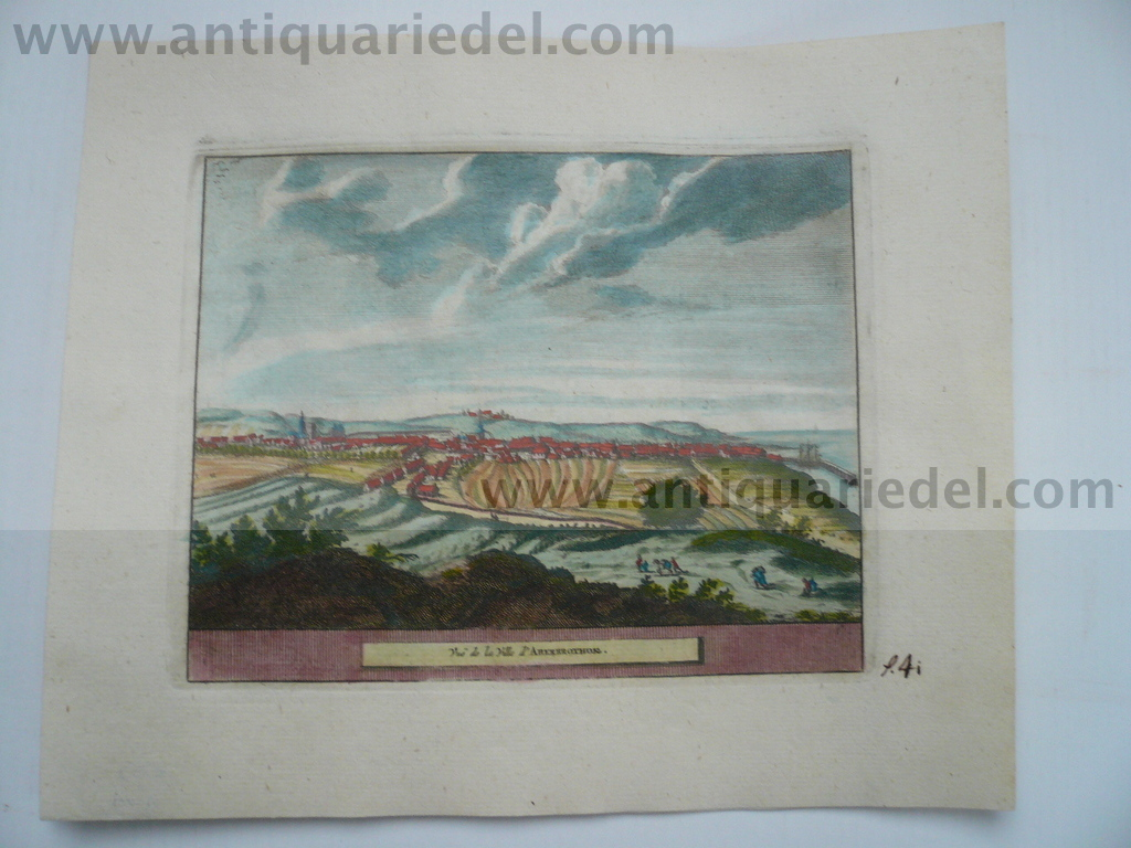 Aberbrothok-Scotland, anno 1707, P.v.d.Aa, copperengraving