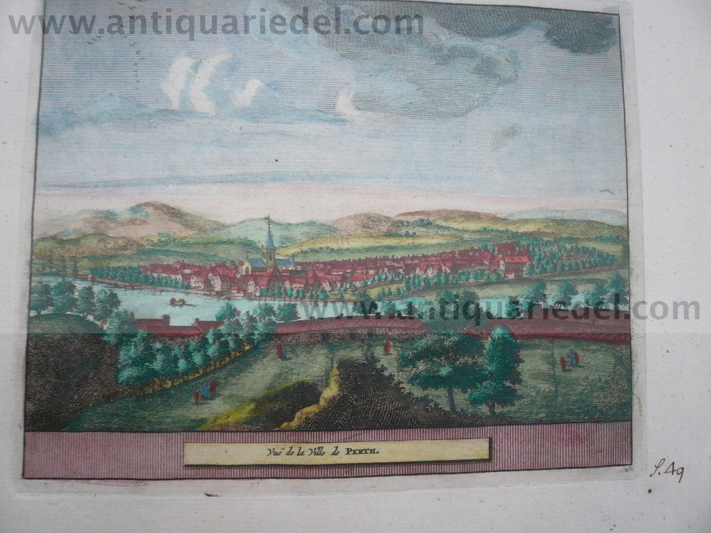 Perth-Scotland, anno 1707, P.v.d.Aa, copperengraving
