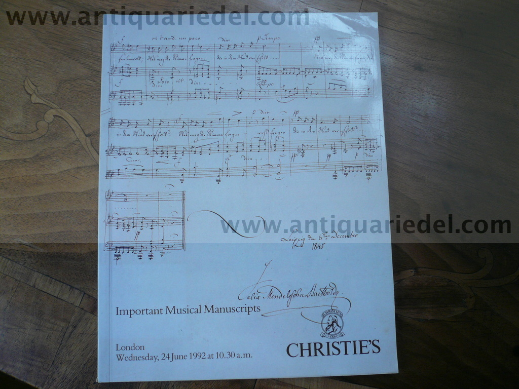 Musical Manuscripts, Haydn, 3 auction cataloques