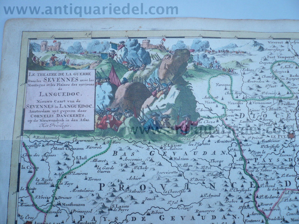 Lanquedoc, anno 1690, Danckerts C., scarce map