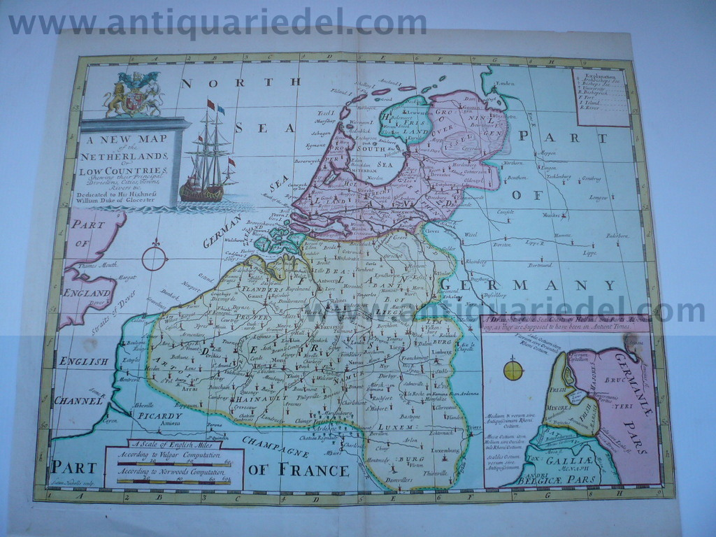 A new map of the Netherlands, Wells Edward, anno 1700