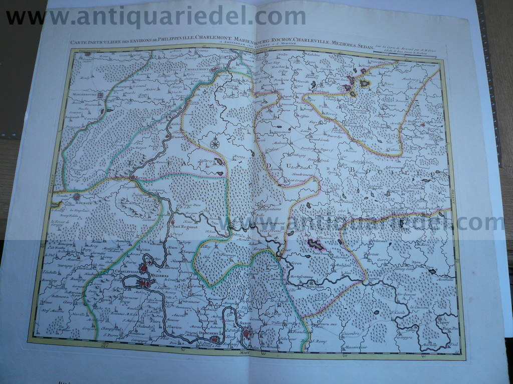 France/Belgium, map, anno 1740, by Covens & Mortier