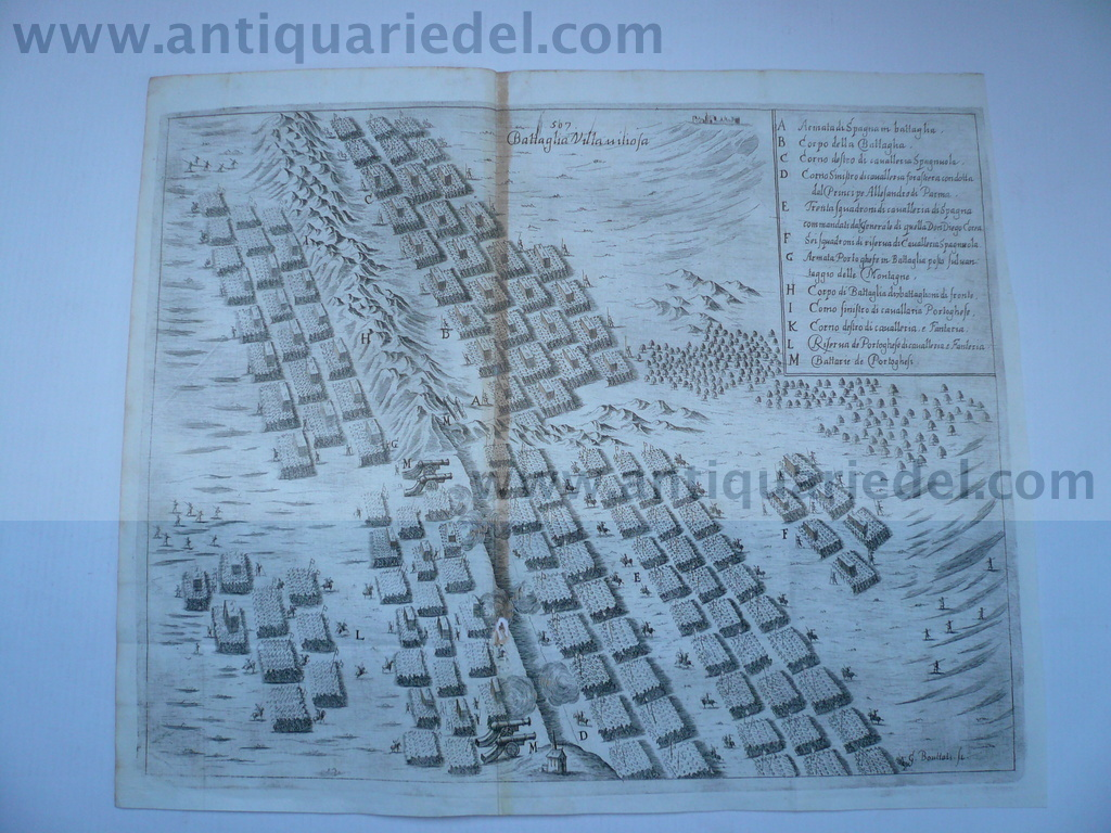 Battle of Montes Claros (Vila Vicosa) of 17.6.1665, by Bouttats