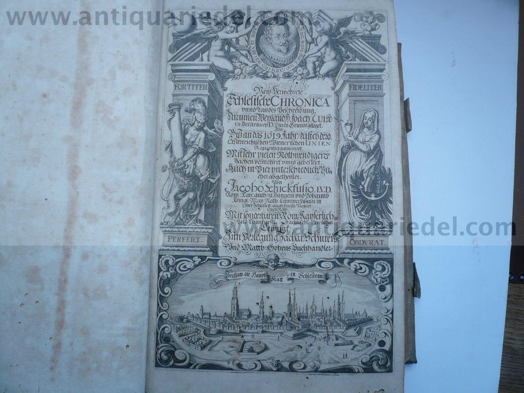 Slask/Chronica, anno 1625, Schickfuß J., 1 st. edition