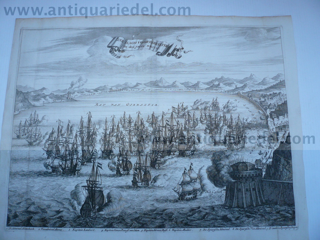 Gibraltar, battle of 1607, Murray John, anno 1780