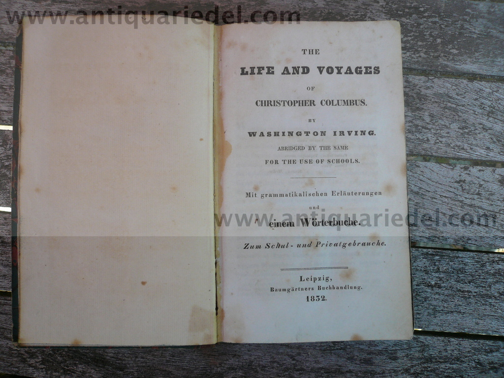 Christopher Columbus, Life and Voyages, Washington Irving