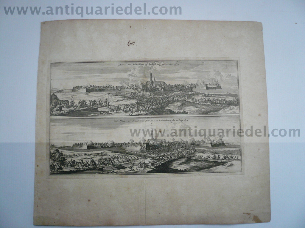 Aardenburg, anno 1672, copperengraving by Doornik M.W., ca. 1675