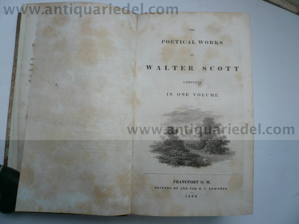 Sir Walter Scott, the poetical works, anno 1826
